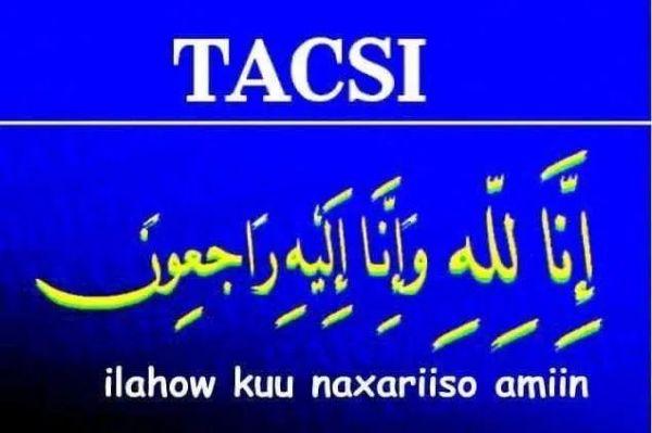 Shir-gudoonka iyo dhamaan Mudanayaasha Golaha Wakiiladu waxay Tacsi u dirayaan