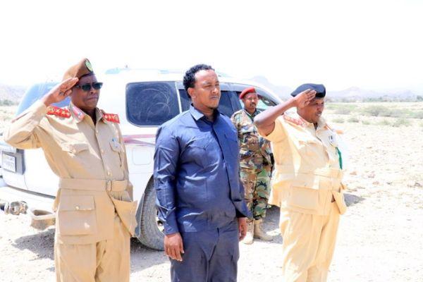 Wasiirka Gaashaandhiga Somaliland oo Kormeeray Fadhiisimada Ciidammada Qaranka ee Lughaya iyo Lawyacado
