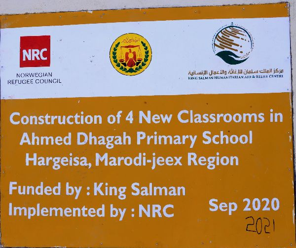 Extension of Ahmed-Dhagah primary Schools new class.