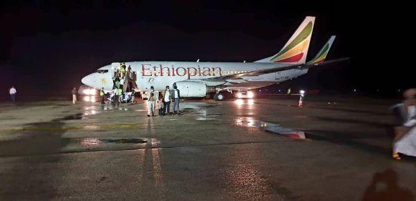 Duulimaadkii diyaarada Ethiopian Airlines