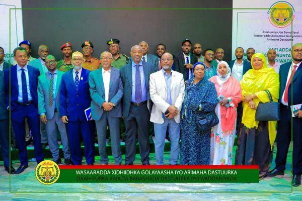Madaxweyne Ku Xigeenka Jamhuuriyadda Somaliland Oo Daah-Furay Xarunta Barashada Dastuurka Iyo Waddaniyadda